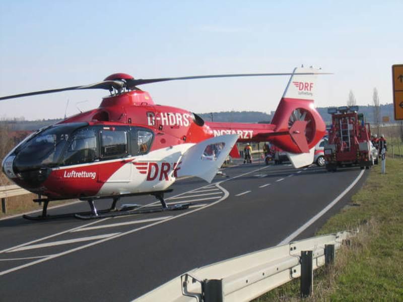 Hubschrauber über Karlsruhe