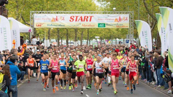 Baden-Marathon klagt über Baustellen: Immer weniger Finisher in Karlsruhe