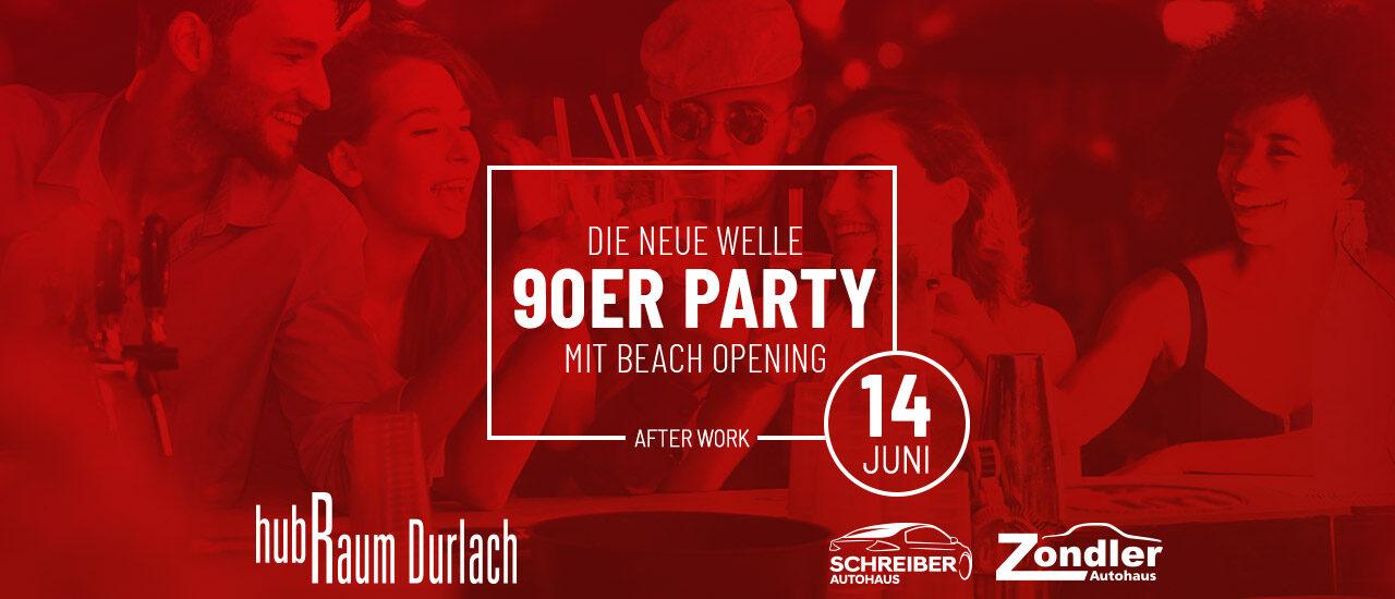 die neue welle 90er Party im hubRaum am 14. Juni 2019
