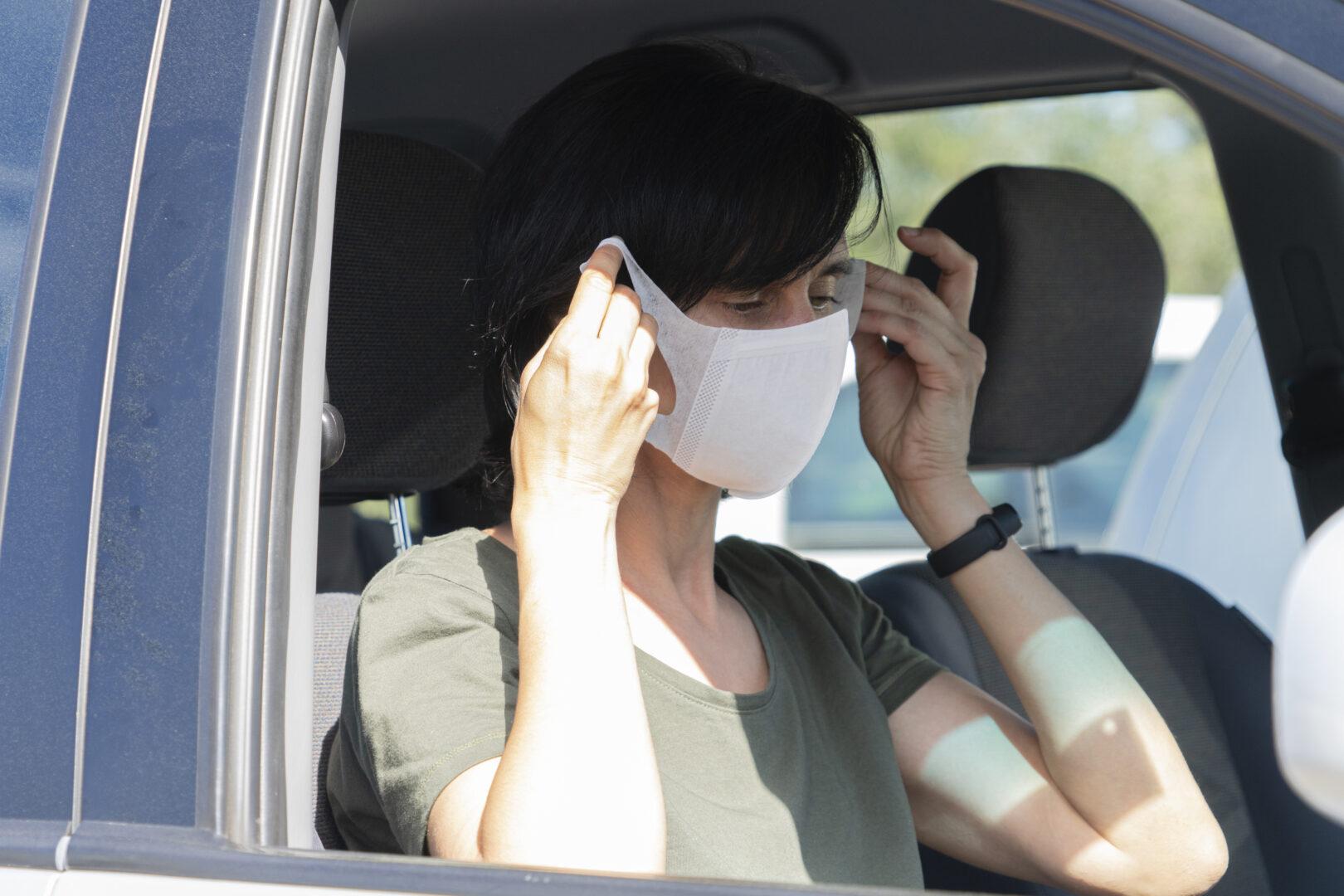 Maske Tragen Beim Autofahren